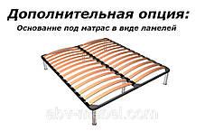 Кровать 2-сп Катрин Орех/Орех патина (Світ Меблів TM), фото 3