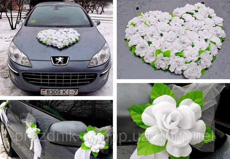 Украшение для свадебной машины 026