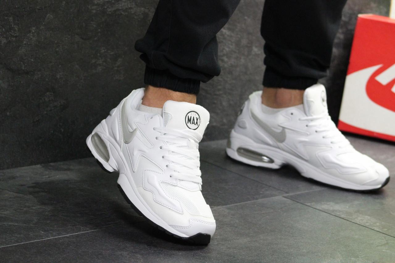 508d0087da6749 Белые мужские кроссовки Nike Air Max 2 Light - найк аир макс / кросівки  чоловічі (
