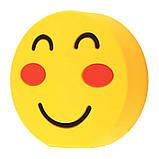 """Прикольний зовнішній акумулятор PowerBank Emoji """"Смайлик Посмішка"""" 15000 mAh 01009, фото 2"""