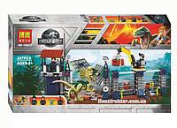 """Конструктор Bela 10923 """"Нападение Дилофозавра на сторожевой пост"""" 307 детали. Аналог Lego Jurassic World 75931"""