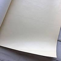 НЕФОРМАТ АБО НЕВЕЛИКИЙ БРАК!! Шкірзамінник палітурний - глянець - кремовий - 23,5х140 см