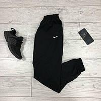 Спортивные осенние мужские штаны черные Nike (реплика)