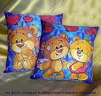 Сувенирная подушка, 14 февраля, день влюбленных,мишки Светяшка