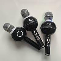 Беспроводной Караоке Микрофон с динамиками и светомузыкой WS 878 ЧЕРНЫЙ +Подарок!