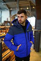 Мужская куртка зимняя Jacket Intruder lightning синяя (раплика)