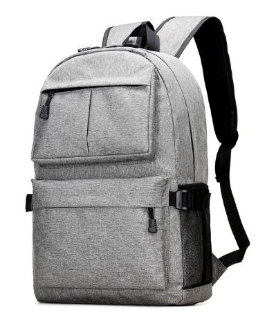 Рюкзак серый с карманами