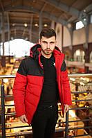 Мужская куртка зимняя Jacket Intruder lightning черно красная (раплика)