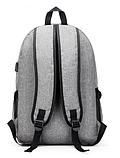 Рюкзак серый с карманами, фото 2