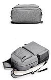 Рюкзак серый с карманами, фото 3