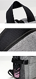 Рюкзак серый с карманами, фото 4