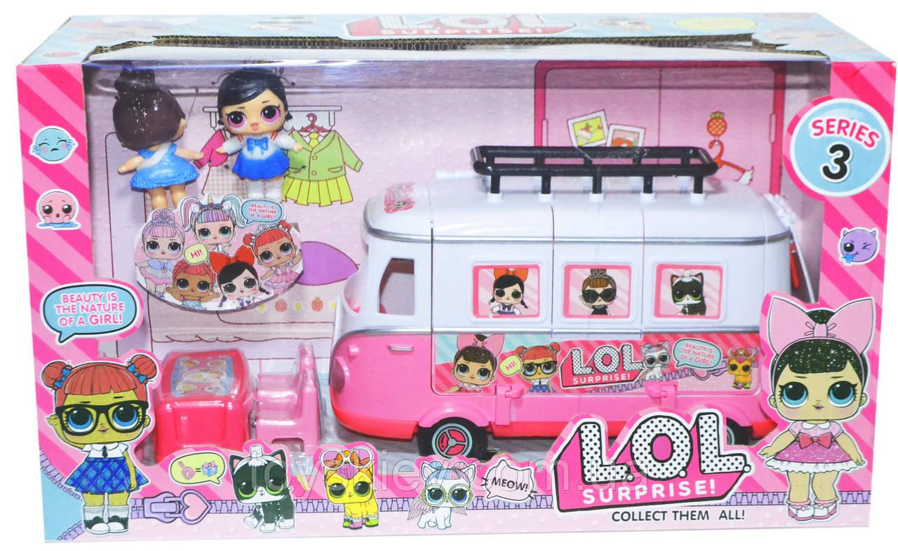 Игровой набор Куклы LoL ЛОЛ Автобус для кукол ЛОЛ Набор с куклами ТМ 855 В
