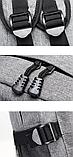 Рюкзак серый с карманами, фото 5