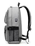 Рюкзак серый с карманами, фото 6