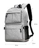 Рюкзак серый с карманами, фото 9