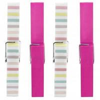 Прищепки, набор 10 штук, розовый/разноцветный