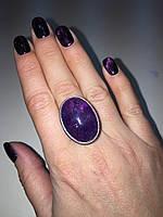 Аметист кольцо с аметистом в серебре Индия! Овальное кольцо с аметистом размер 18 , фото 1