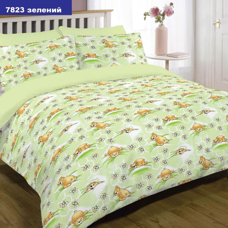 Постель Вилюта детская в кроватку 7823 зел