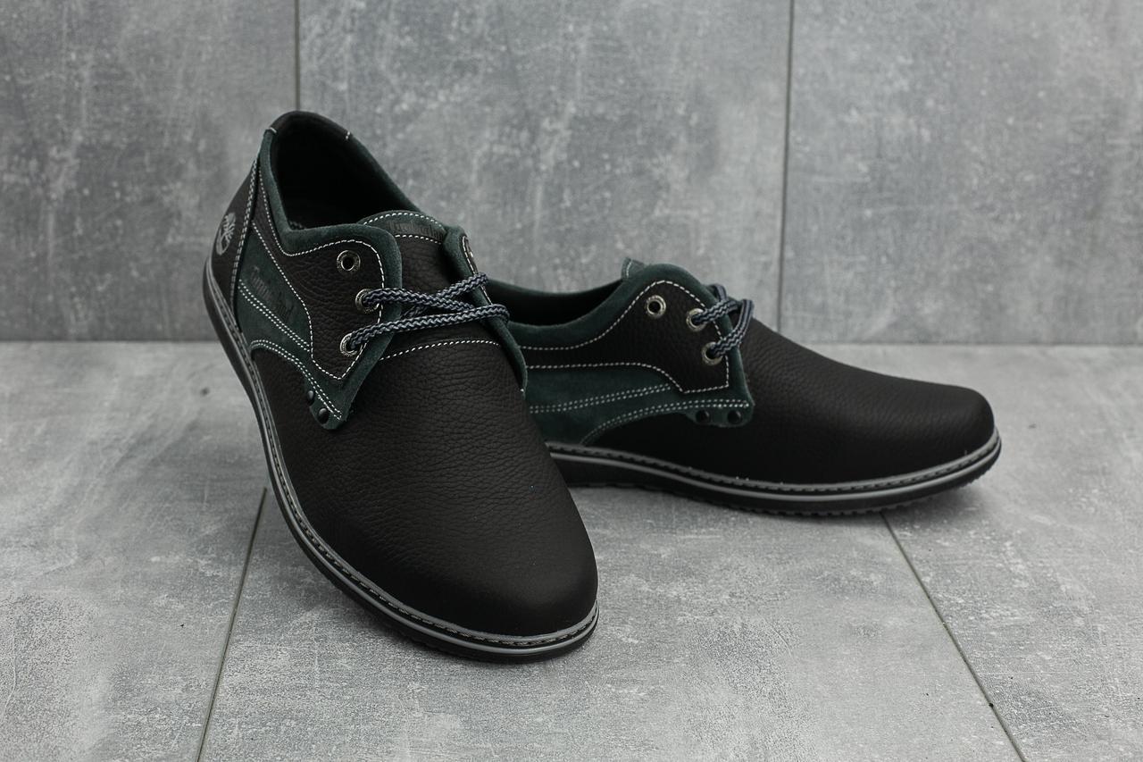 Мужские кожаные кеды CrossSAV 116 (Timberland) (весна-осень, мужские, кожа, черно-серый)