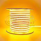 Светодиодный неон 220В желтый AVT smd 2835-120 лед/м 7Вт/м, герметичный. Бухта 50 метров., фото 2