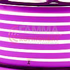 Светодиодный неон 220В розовый SMD 2835-120 лед/м 12Вт/м, герметичный. Бухта 50 метров., фото 2