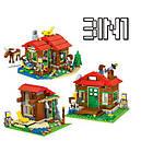 Конструктор Lele 33020 (Lego 31048 Minecraft) 3в1 Домик на берегу озера, 404 дет., фото 3