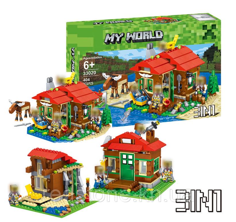 Конструктор Lele 33020 (Lego 31048 Minecraft) 3в1 Домик на берегу озера, 404 дет.