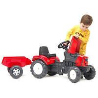 Трактор Педальный с Прицепом Lander Falk 2030AC красный, фото 1