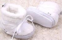 Белые пинетки угги на девочку, фото 1