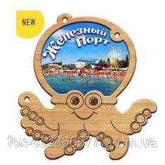Деревянный магнит, магнит на холодильник Железный Порт