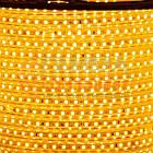 Світлодіодна стрічка 220В жовта AVT smd 2835-120 лід/м 4Вт/м, герметична. Бухта 50 метрів., фото 3