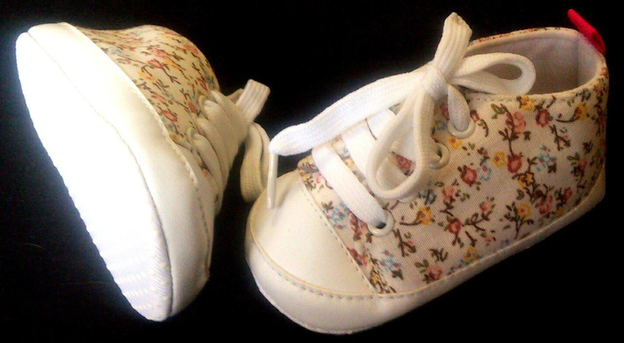 bd805643 Пинетки кеды в цветочек на девочку.: продажа, цена в Днепре. обувь ...