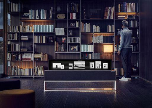 LG SIGNATURE OLED TV R – Lifestyle with Rollable OLED TV