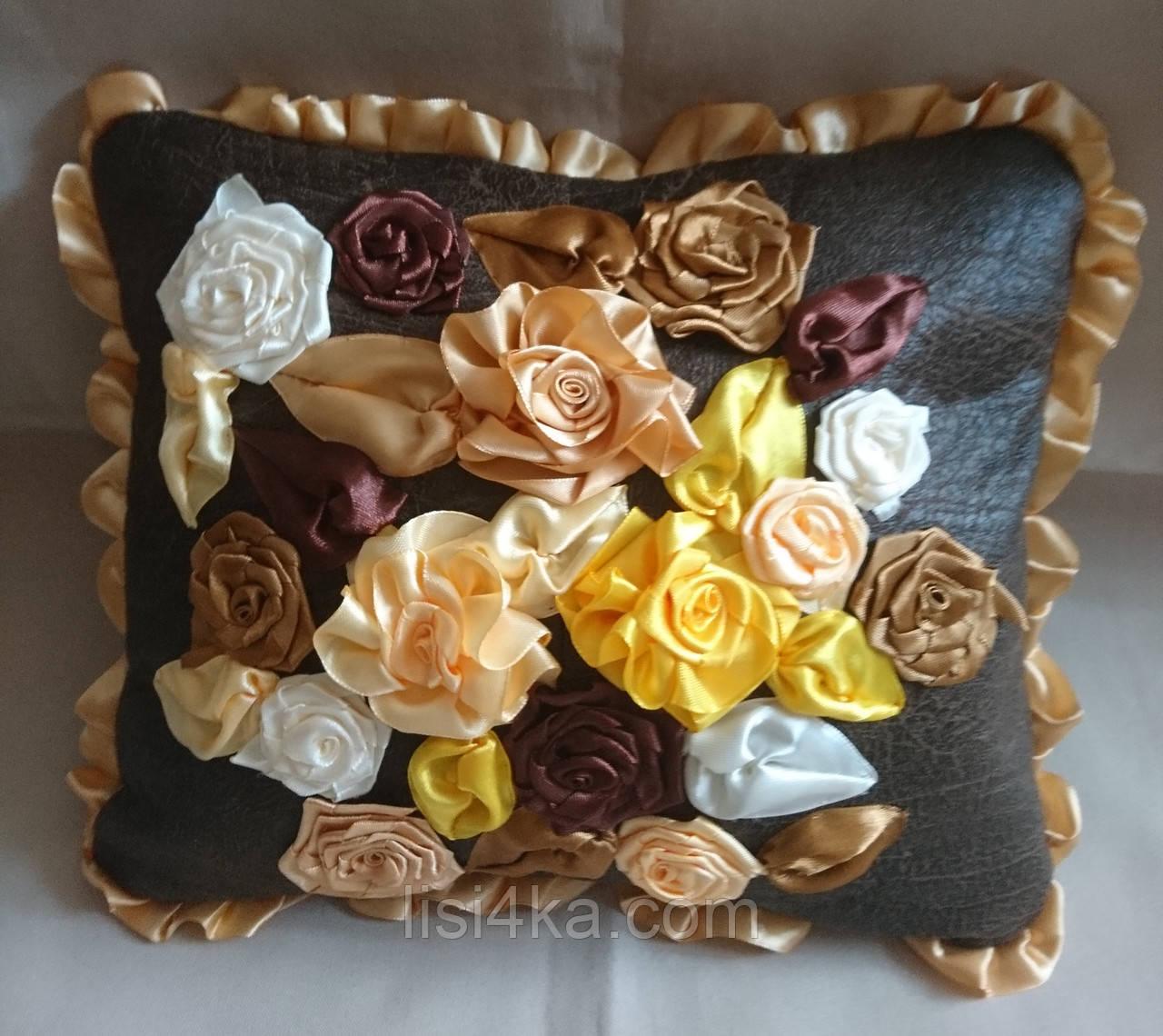 """Интерьерная подушка """"Золотой шоколад1"""""""