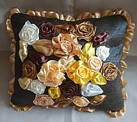 """Интерьерная подушка """"Золотой шоколад1"""", фото 1"""