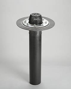 Кровельная воронка 110/600 мм для плоской кровли с прижимным фланцем из нержавеющей стали