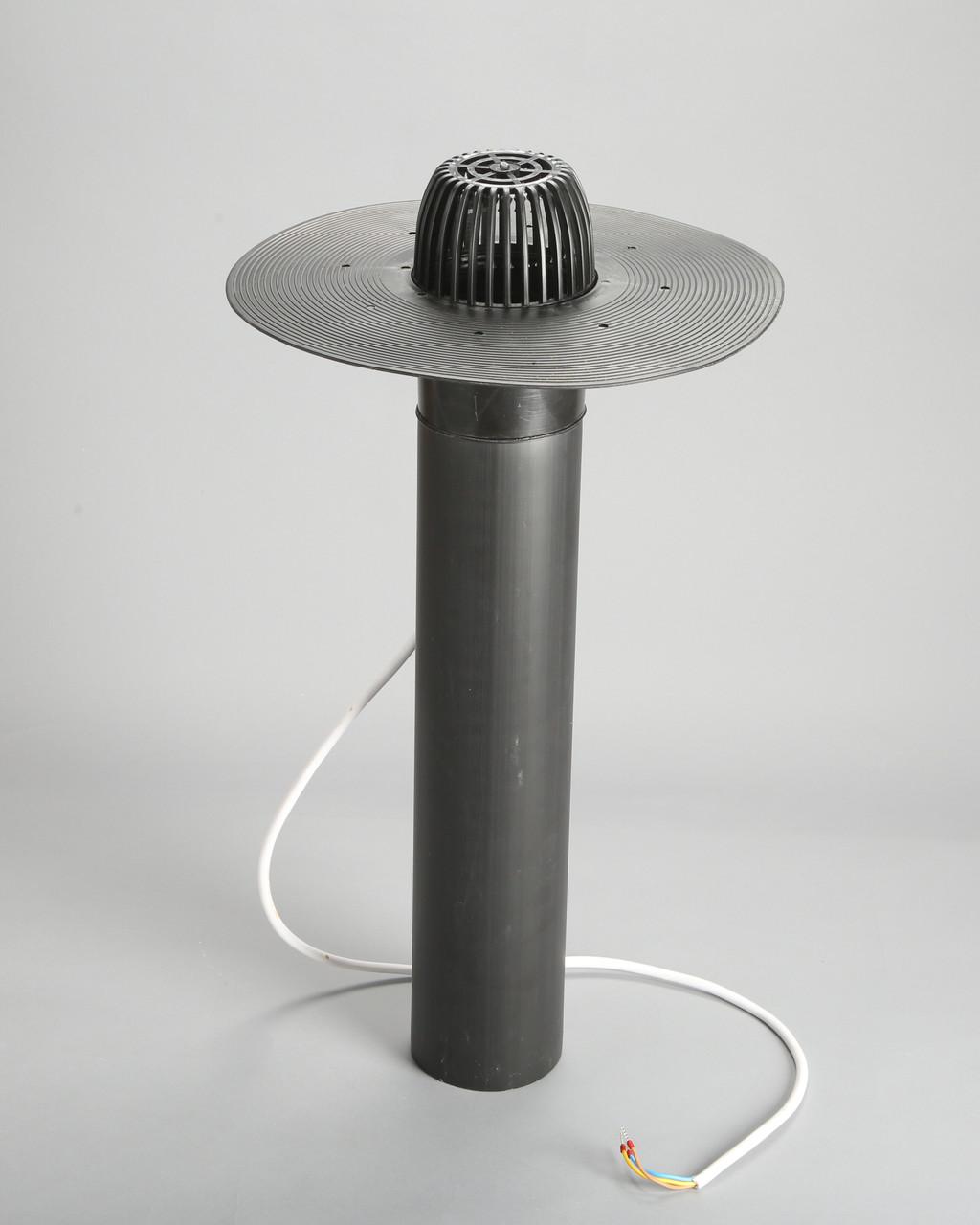 Кровельная воронка 110/600 мм с обогревом под еврорубероид