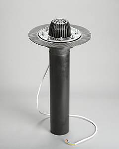 Кровельная воронка 110/600 мм для плоской кровли с прижимным фланцем и обогревом