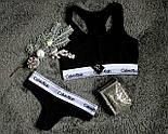 Женский комплект нижнего белья тройка Calv1n Kle1n 3в1 черные с белым. Живое фото. Реплика ААА+, фото 2