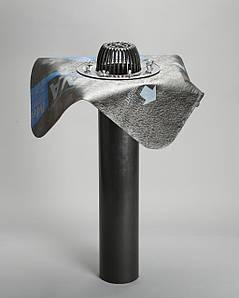 Кровельная воронка с прижимным фланцем и битумным или ПВХ фартуком, 110/600 мм