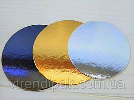 Підложка ламінована золото-срібло 1.2 мм круг 90мм