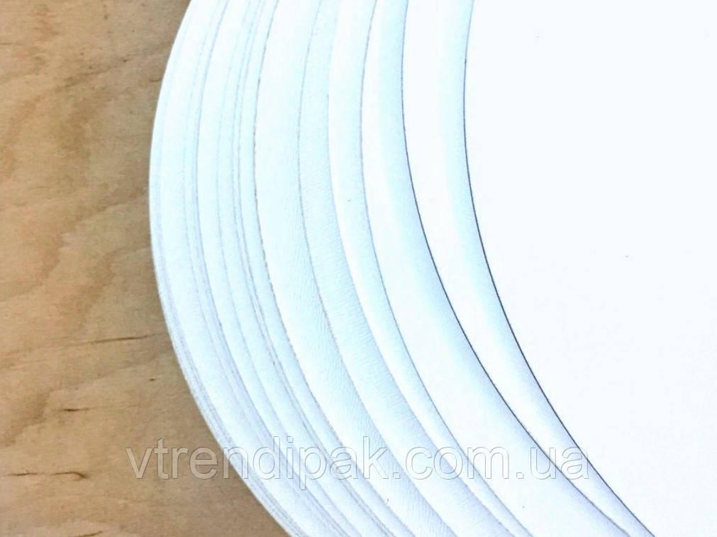Підложка ламінована білий/білий 1.2 мм круг 250 мм