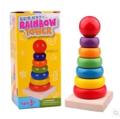 Детская игрушка. Деревянная пирамидка