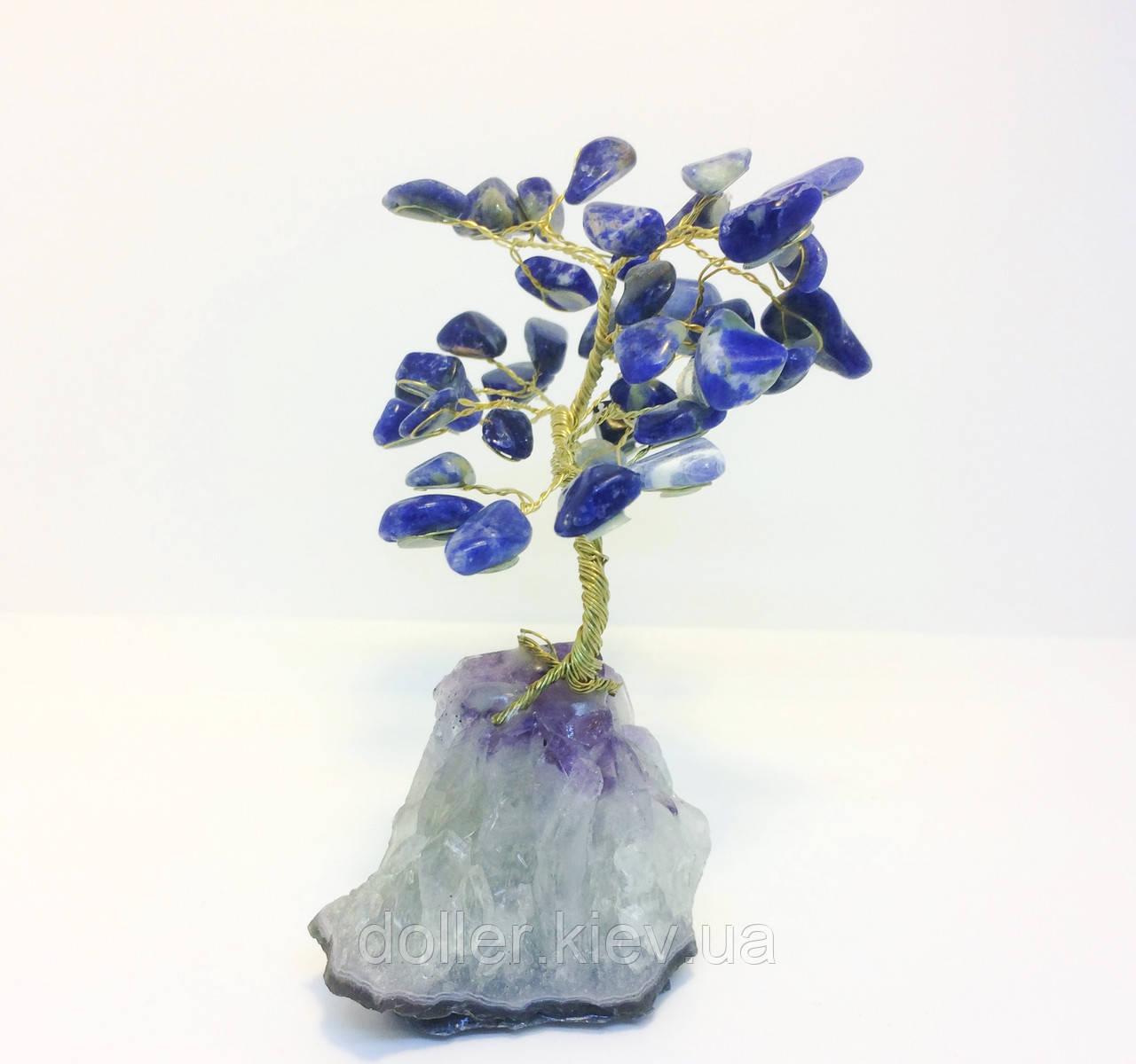 Дерева з каменю | декоративне дерево з лазуриту М | сувенірні дерева