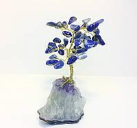 Деревья из камня | декоративное дерево из лазурита М | сувенирные деревья