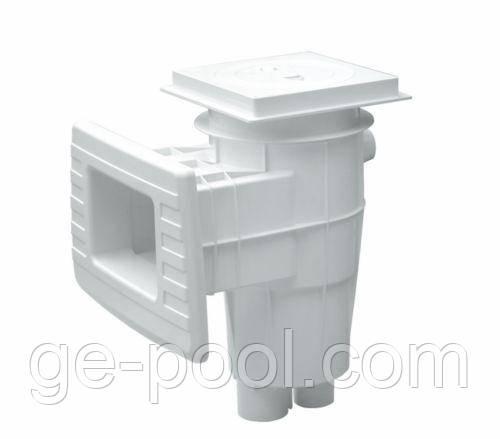 Скиммер LUX Стандарт для бетонных бассейнов Gemas   с заслонкой, LUX Стандарт