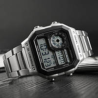 Skmei  1335 S  ripple серебристые мужские  часы, фото 1