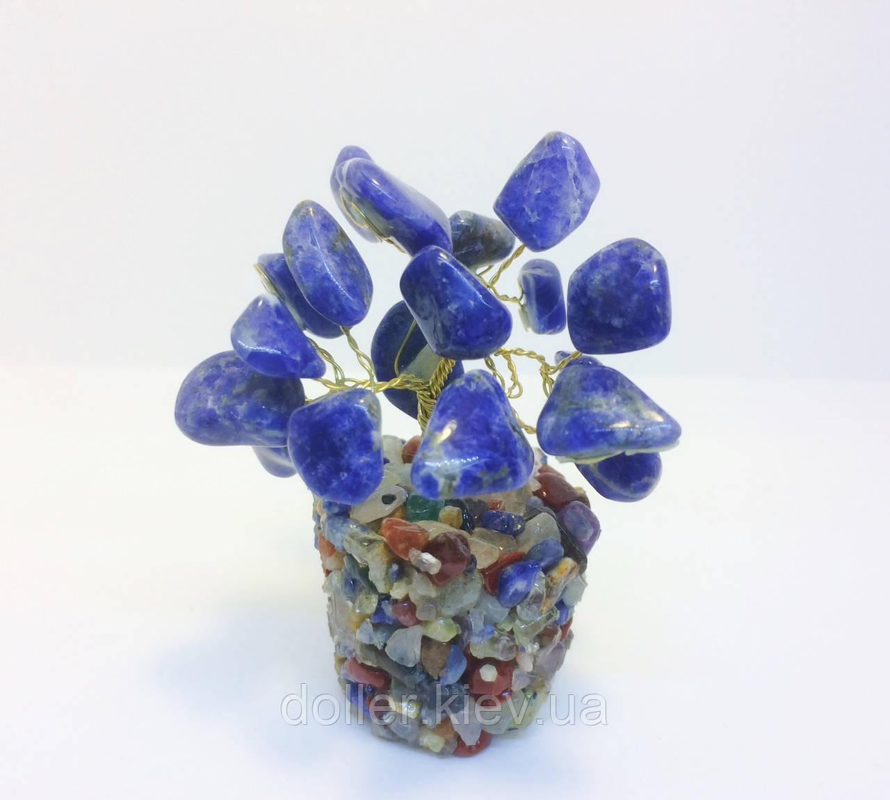 Дерево из камня   сувенирное деревце из лазурита S   деревья декоративные