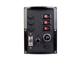 Панель переключателей с тестером аккумулятора