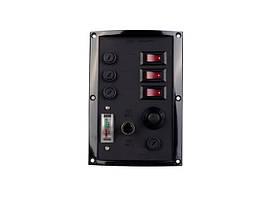 Панель переключателей с тестером аккумулятора и кнопкой сигнала